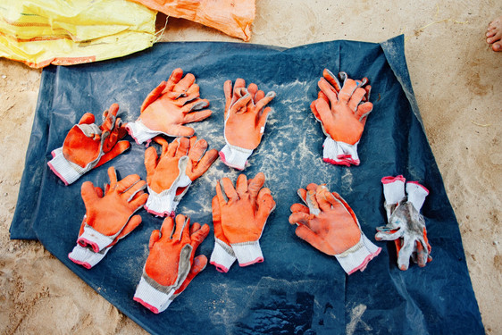 gloves beach clean freedom surf school