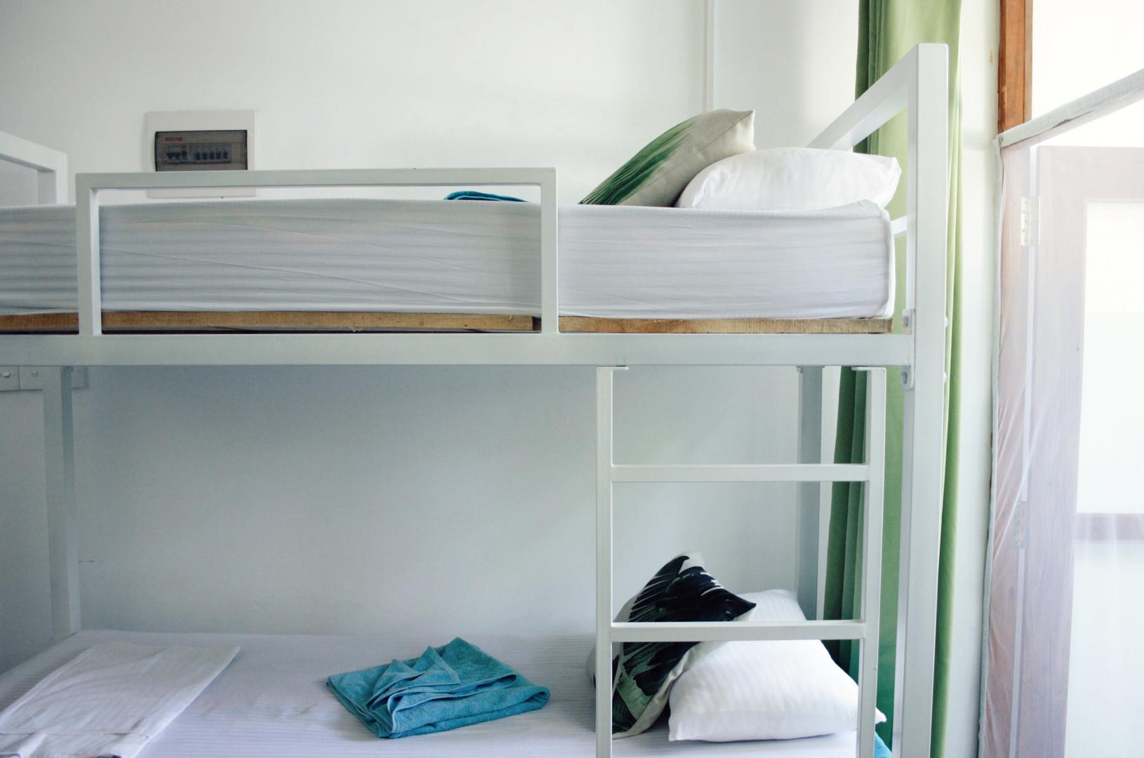 bed detail dorm room