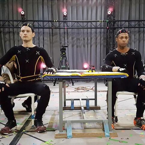Interrogation scene: Bryan Dechart and Cornelius Smith Jr.
