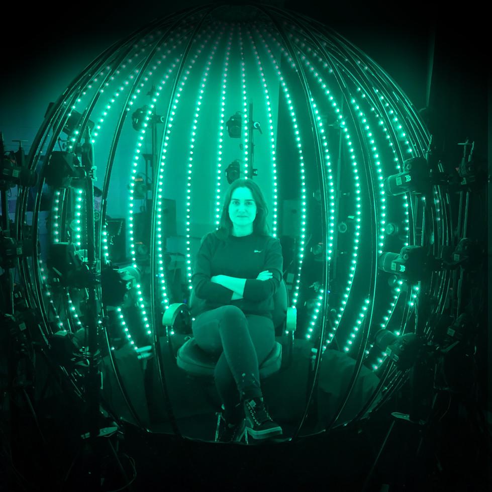Marie Celaya in scan sphere.