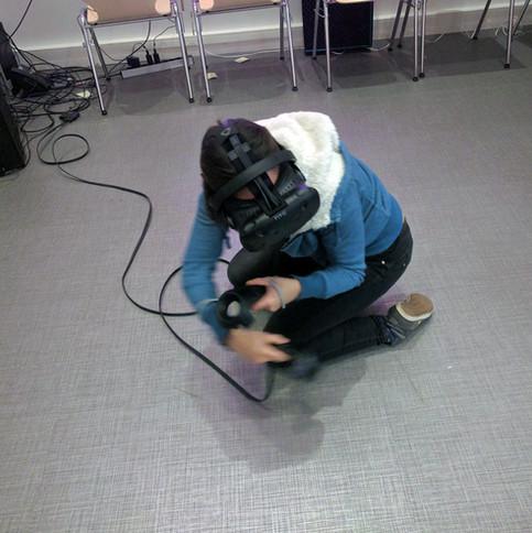 'VR' Virtual Reality session