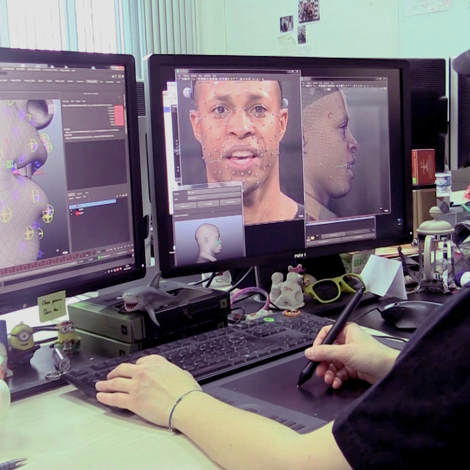 Working on Carlos's Android's FACS. Played by Cornelius Smith Jr