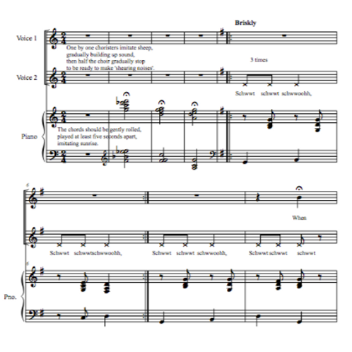 Limejuice Tub - Australian folksong  arr. for 2-part choir by David Banney
