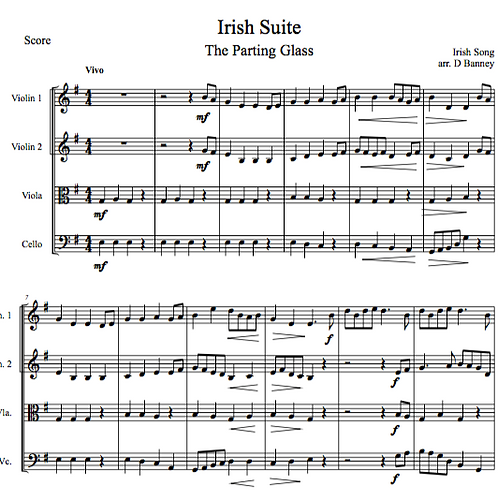 The Parting Glass, arr. for string orchestra by David Banney