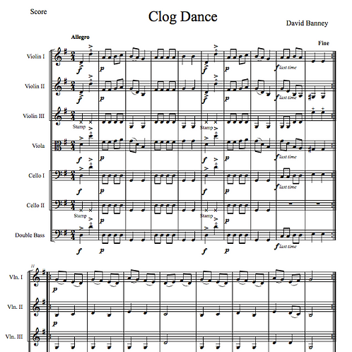 Clog Dance for string orchestra, David Banney