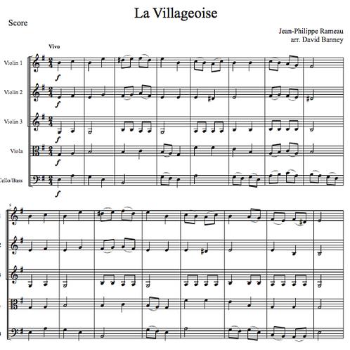 La Villageoise, Jean-Philippe Rameau, arr. by David Banney