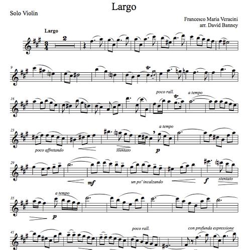 Largo, Veracini - solo violin only