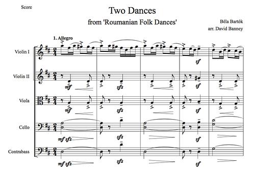 Two Dances (Béla Bartók, arr. David Banney)