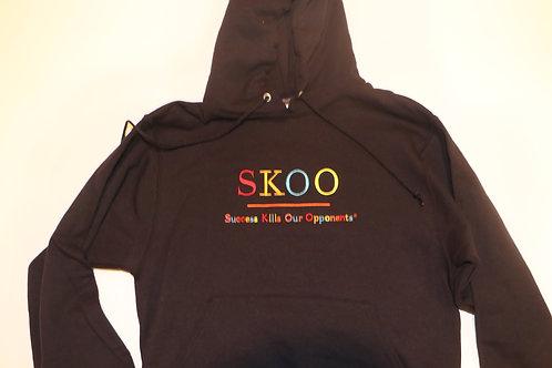 SKOO TAG Hoodie Black Multi Color Embroidery