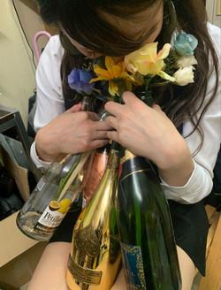 シャンパンいっぱい