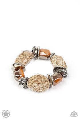 Glaze of Glory Brown Bracelet - B1383