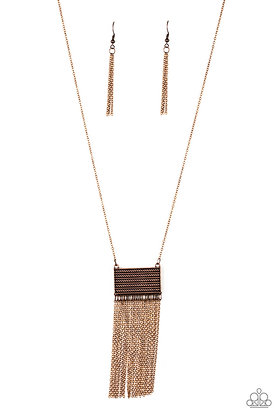 Totally Tassel Copper Necklace - N1212
