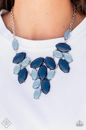 Date Night Nouveau Blue Necklace - N1493