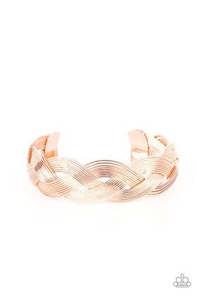Woven Wonder Copper Bracelet - B1337