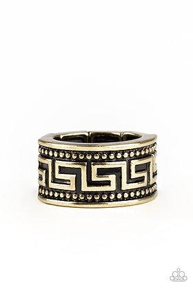 Tycoon Tribe Brass Ring - R1367