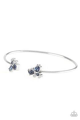 Going For Glitter Blue Bracelet - B1394