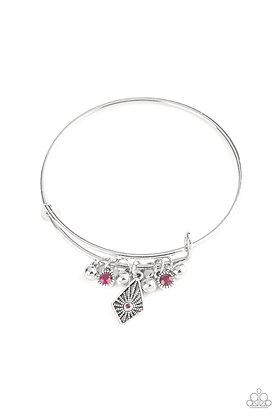 Treasure Charms Pink Bracelet - B1397