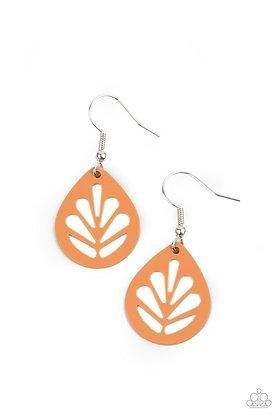 LEAF Yourself Wide Open Orange Earring - Item #E1272