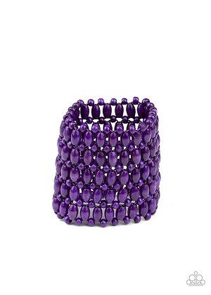 Way Down In Kokomo Purple Bracelet - B1393