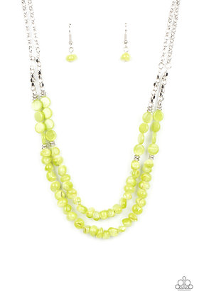 Staycation Status Green Necklace - N1409