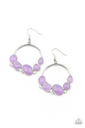 Beautifully Bubblicious Purple Earring - Item #E1248