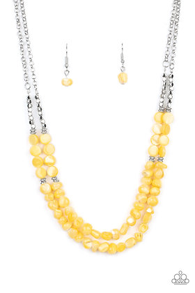 Staycation Status Yellow Necklace - N1413