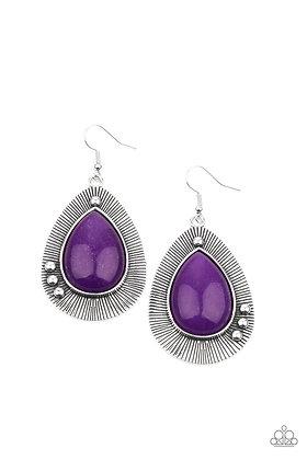 Western Fantasy Purple Earring - E1328