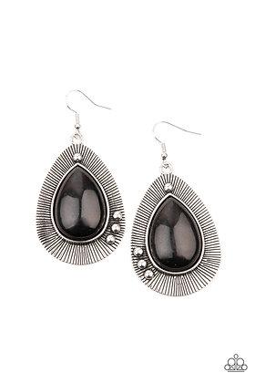 Western Fantasy Black Earring - Item #E1286