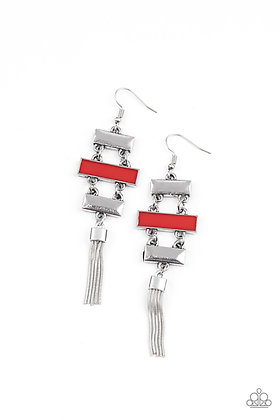 Mind, Body, and SEOUL Red Earring - E1325