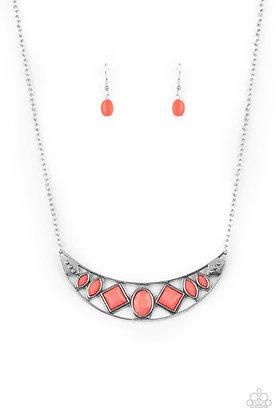 Emblazoned Era Pink Necklace - N1429
