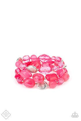 Oceanside Bliss Pink Bracelet - B1479