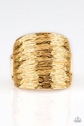 Paleo Patterns Gold Ring - Item #R1052