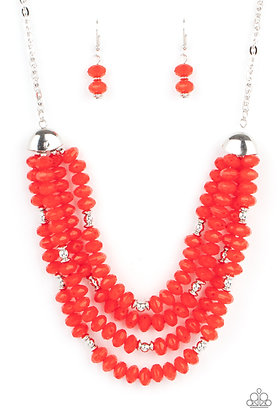 Best POSH-ible Taste Red Necklace - N1344