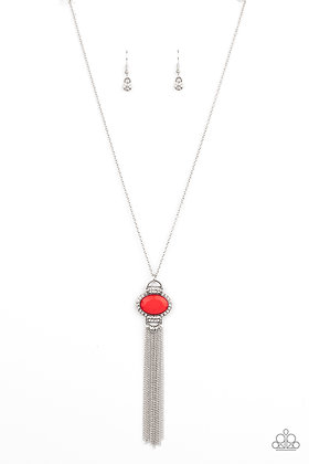 What GLOWS Up  Red Necklace - N1326