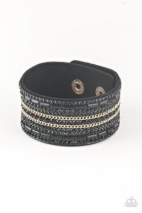 Rebel Radiance Black Bracelet- B1369