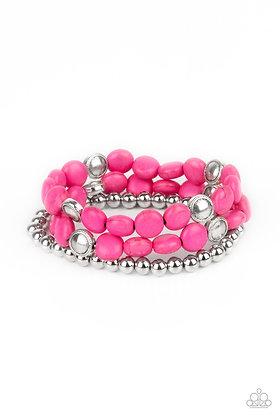Desert Verbena Pink Bracelet - B1365