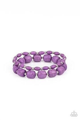 Colorfully Country Purple Bracelet - B1400