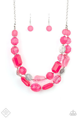 Oceanic Opulence Pink Necklace - N1480