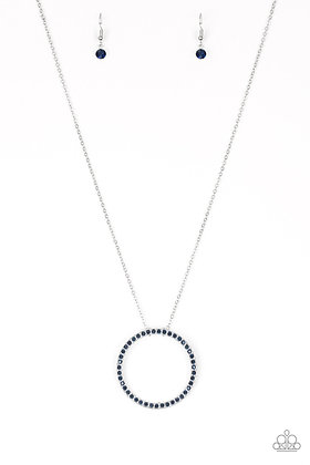 Center Of Attention Blue Necklace - N1388