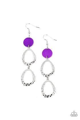 Surfside Shimmer Purple Earring - E1412