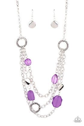 Oceanside Spa Purple Necklace - N1305