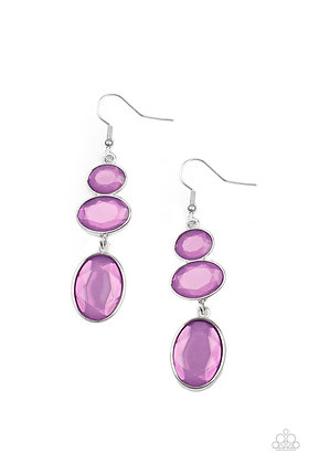 Tiers Of Tranquility Purple Earring - E1371