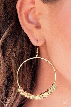 Retro Ringleader Gold Earring - E1483