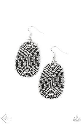 Desert Climate Silver Earring - E1478