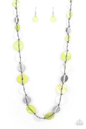 Seashore Spa Green Necklace - N1475