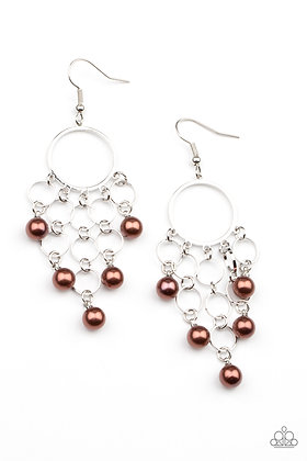 When Life Gives You Pearls Brown Earring - E1446