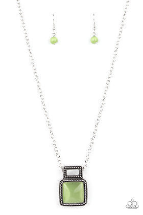 Ethereally Elemental Green Necklace - N1427