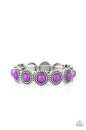 Polished Promenade Purple Bracelet - B1426