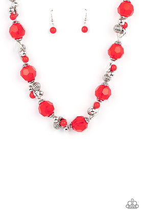 Vidi Vici VACATION - Red Necklace - N1283