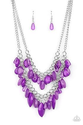 Midsummer Mixer - Purple Necklace - Item # N1274